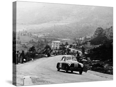 Fiat 1100S Berlinetta Competing in the Mille Miglia, Italy, 1947--Stretched Canvas Print