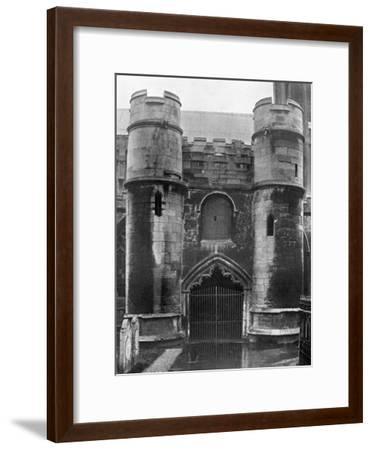 The Porch, Holbeach Church, Lincolnshire, 1924-1926-Valentine & Sons-Framed Giclee Print