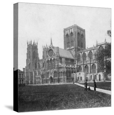 South-East View of York Minster, Yorkshire, Late 19th or Early 20th Century--Stretched Canvas Print