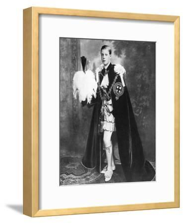 Edward, Prince of Wales as a Knight of the Garter, Early 20th Century--Framed Giclee Print