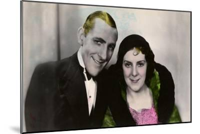 Jack Hulbert (1892-197) and His Wife Cicely Courtneidge (1893-198), English Actors, 20th Century--Mounted Giclee Print