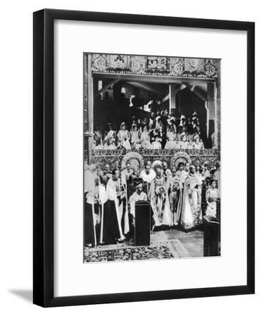 The Coronation of King George V, Westminster Abbey, 22 June 1911--Framed Giclee Print