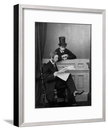 The Prince of Wales and Crown Prince Frederick William of Prussia, Windsor, 1863--Framed Giclee Print