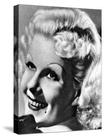 Jean Harlow, American Actress, 1934-1935--Stretched Canvas Print