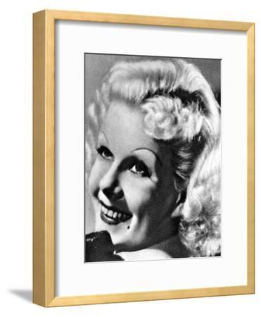 Jean Harlow, American Actress, 1934-1935--Framed Giclee Print