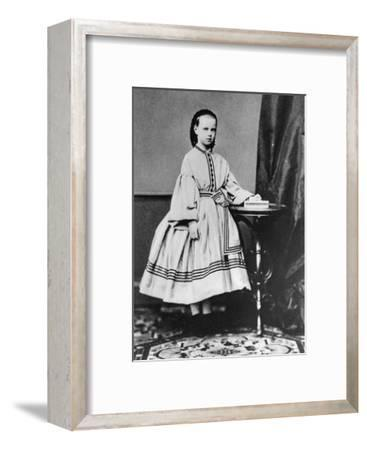 Grand Duchess Maria Alexandrovna of Russia, C1861-C1864--Framed Giclee Print