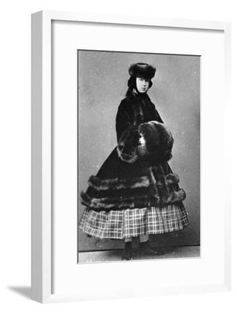 Grand Duchess Maria Alexandrovna of Russia, C1861-C1865--Framed Giclee Print