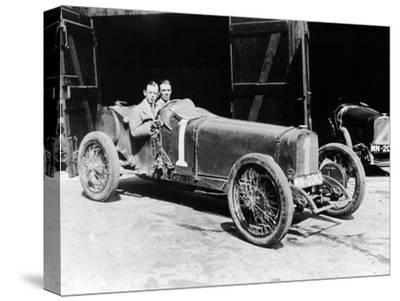 Kenelm Lee Guinness and Perkins with an 8 Cylinder Sunbeam, 1922--Stretched Canvas Print