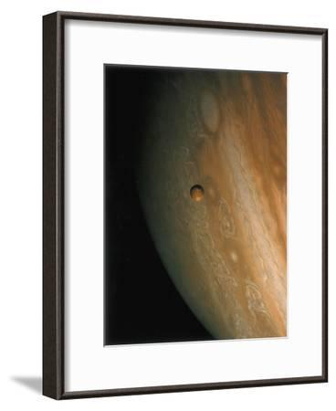 Jupiter and Io, One of its Moons, 1979--Framed Giclee Print