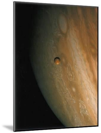 Jupiter and Io, One of its Moons, 1979--Mounted Giclee Print