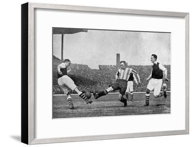 Action from an Arsenal V Sheffield United Football Match, C1927-1937--Framed Giclee Print