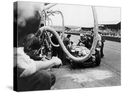 Delahaye 175S in the Pits, Le Mans, France, 1951--Stretched Canvas Print