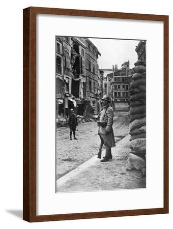 Garrison of French Soldiers and Firemen, Verdun, France, First World War, 1916--Framed Giclee Print