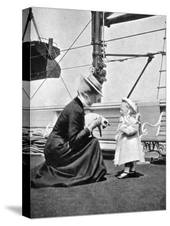 Princess Victoria (1868-193) with Prince Olav of Norway (1903-199), 1908--Stretched Canvas Print