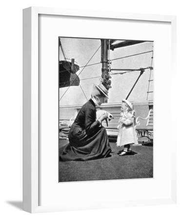Princess Victoria (1868-193) with Prince Olav of Norway (1903-199), 1908--Framed Giclee Print