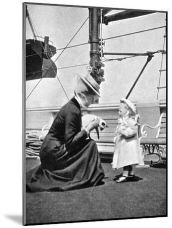 Princess Victoria (1868-193) with Prince Olav of Norway (1903-199), 1908--Mounted Giclee Print