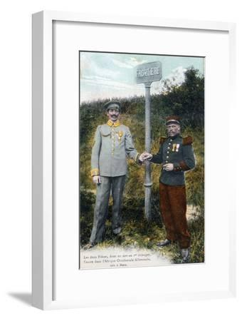 Two Brothers at the French and German Frontier, 20th Century--Framed Giclee Print