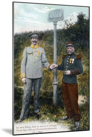 Two Brothers at the French and German Frontier, 20th Century--Mounted Giclee Print