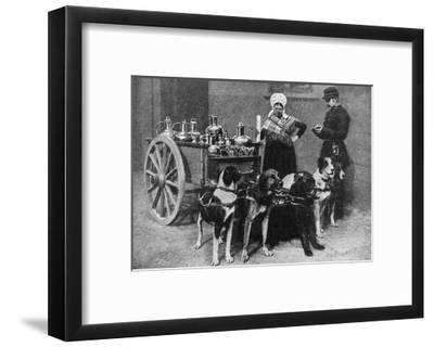 A Milkwoman with a Government Inspector, Belgium, 1922--Framed Giclee Print