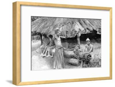 A Sorcerer Ejecting a Spirit from a Sick Man in South India, 1926--Framed Giclee Print