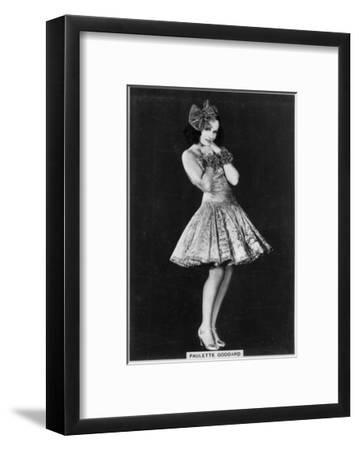 Paulette Goddard, American Film and Theatre Actress, 1938--Framed Giclee Print