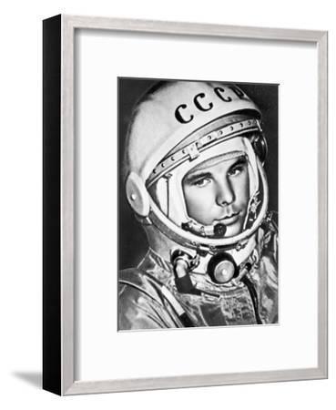 Yuri Gagarin, Russian Cosmonaut, 1961--Framed Giclee Print