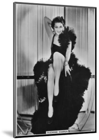 Suzanne Kaaren, American B-Movie Actress, C1938--Mounted Giclee Print