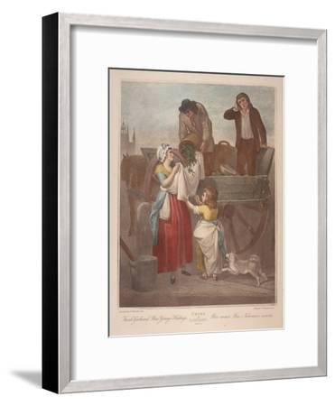 Fresh Gathered Peas Young Hastings, Cries of London, C1870-Francis Wheatley-Framed Giclee Print