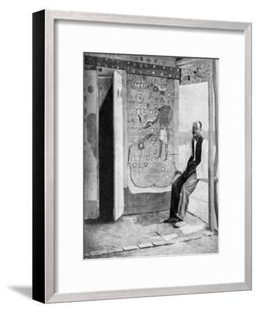 On the Threshold of a Voodoo Temple, Haiti, 1922--Framed Giclee Print
