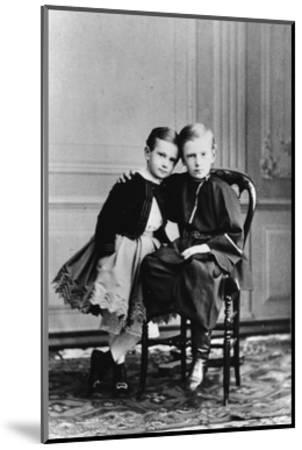 The Two Youngest Children of Tsar Alexander II and Maria Alexandrovna of Russia, C1863-C1865--Mounted Giclee Print