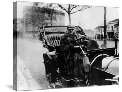Lord Northcliffe at the Wheel of a 1908 135 Hp Mercedes, (C1908)--Stretched Canvas Print
