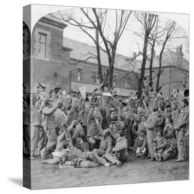 Convalescent Soldiers, General Hospital No 10, Bloemfontein, South Africa, Boer War, 1901-Underwood & Underwood-Stretched Canvas Print
