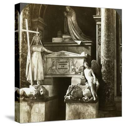 Tomb of Pope Clement XIII, St Peter's Basilica, Rome, Italy-Underwood & Underwood-Stretched Canvas Print