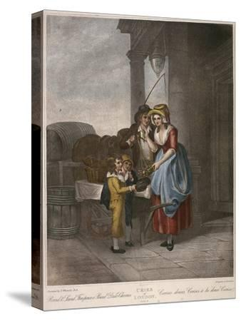 Round and Sound Fivepence a Pound Duke Cherries, Cries of London, C1870-Francis Wheatley-Stretched Canvas Print