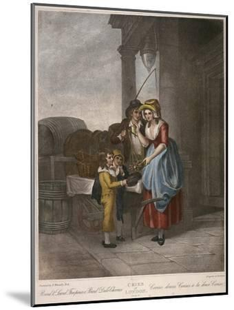 Round and Sound Fivepence a Pound Duke Cherries, Cries of London, C1870-Francis Wheatley-Mounted Giclee Print