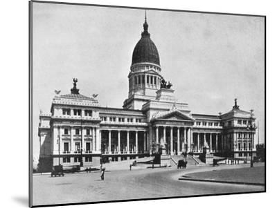 Argentine Congress Hall, Buenos Aires, Argentina--Mounted Giclee Print