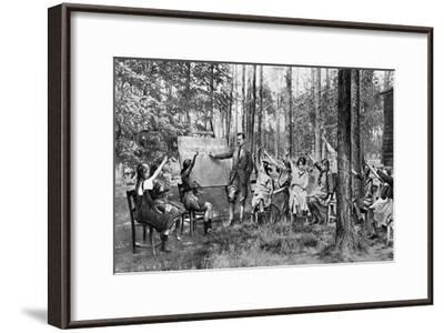 Children Taking English Lessons in the Forest of Charlottenburg, Berlin, Germany, 1922--Framed Giclee Print