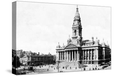 Guildhall, Portsmouth, Hampshire, Early 20th Century--Stretched Canvas Print