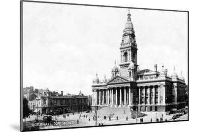 Guildhall, Portsmouth, Hampshire, Early 20th Century--Mounted Giclee Print