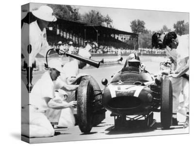 Jack Brabham's Cooper in the Pits, Indianapolis 500, Indiana, USA, 1961--Stretched Canvas Print