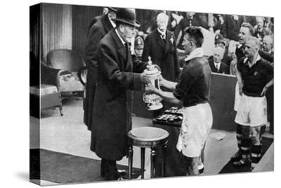King George V Presenting the Fa Cup, Wembley Stadium, London, C1923-1936--Stretched Canvas Print