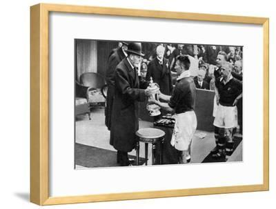King George V Presenting the Fa Cup, Wembley Stadium, London, C1923-1936--Framed Giclee Print