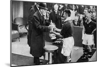 King George V Presenting the Fa Cup, Wembley Stadium, London, C1923-1936--Mounted Giclee Print