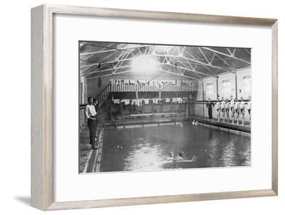 The Swimming Bath, Royal Navy Training Establishment, Shotley, Suffolk, 1936--Framed Giclee Print