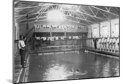 The Swimming Bath, Royal Navy Training Establishment, Shotley, Suffolk, 1936--Mounted Giclee Print