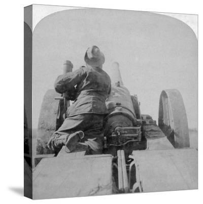 Training One of HMS Monarch's 4.7 Inch Guns on the Pretoria Forts, South Africa, 4th June 1900-Underwood & Underwood-Stretched Canvas Print