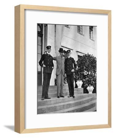 King Christian IX of Denmark (1818-190) with Two of His Grandsons, 1908--Framed Giclee Print