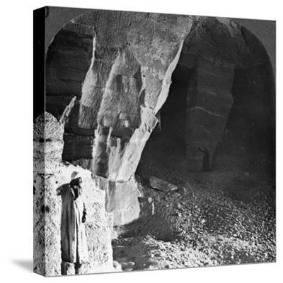 Quarry Chambers of Masara, Egypt, 1905-Underwood & Underwood-Stretched Canvas Print