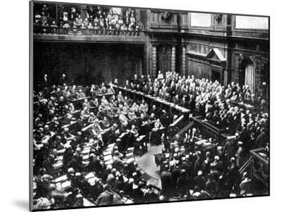 A Typical Sitting of the Reichstag, Parliament of the German Republic, 1926--Mounted Giclee Print