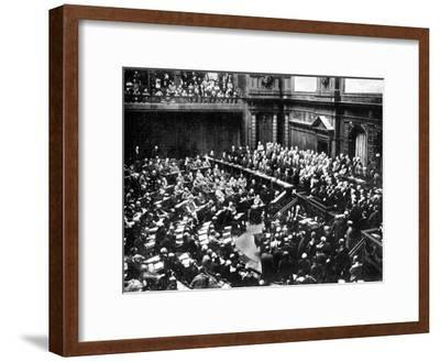 A Typical Sitting of the Reichstag, Parliament of the German Republic, 1926--Framed Giclee Print
